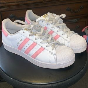 Adidas originals super star shell toe baby pink